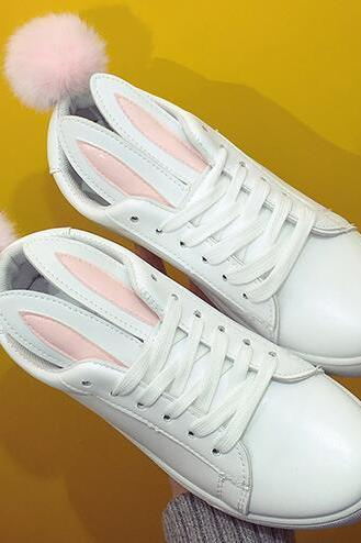 Ulass Cute Rabbit Ears Sneakers