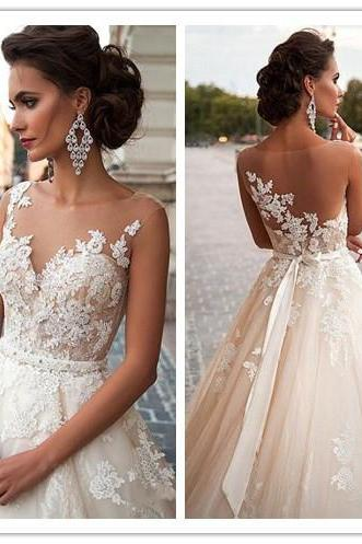 Ulass 2016 Wedding Dress Marvelous Wedding Dress Tulle Wedding Dress Jewel Neckline Wedding Dress Mermaid Wedding Dress Lace Wedding Dress Appliques Wedding Dress Handmade Wedding Dress Custom Made Wedding Dress