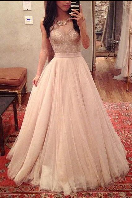 Ulass Charming Prom Dress,Spaghetti Straps Prom Dress,A-Line Prom Dress,Noble Prom Dress,Tulle Prom Dress