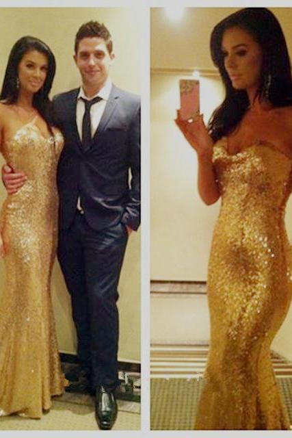 Ulass Sexy Mermaid Prom Dresses 2016 Sweetheart Sleeveless Backless Sweep Train 2015 Long Sequin Formal Dress Party Dress Custom Made
