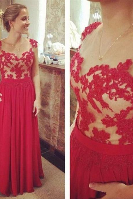 Ulass Simple Cheap Long Chiffon Prom Dress Elegant Party Gowns Lace Appliqued Bodice 2016