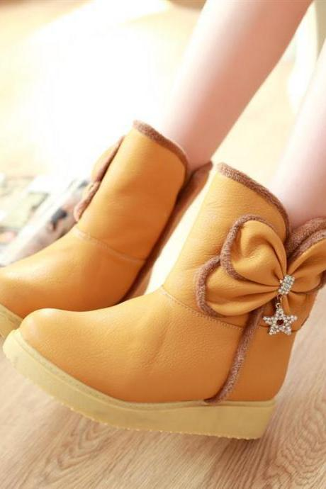 Ulass bow fashion warm boots
