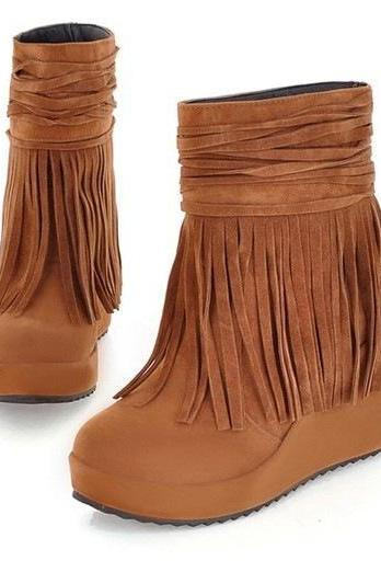 Ulass Frosted fringed boots