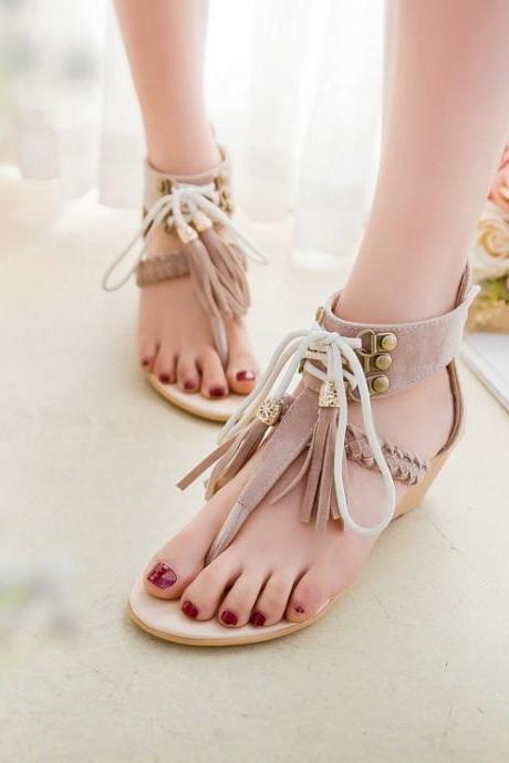 Ulass New arrival High-quality Summer Women Wedge sandals Sexy Elegant Fashion Beige Brown Black shoes Fashion ST-047