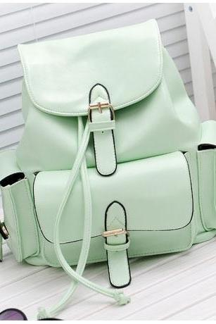 Ulass Fashion Sweet Mint Green Backpack-BB-4