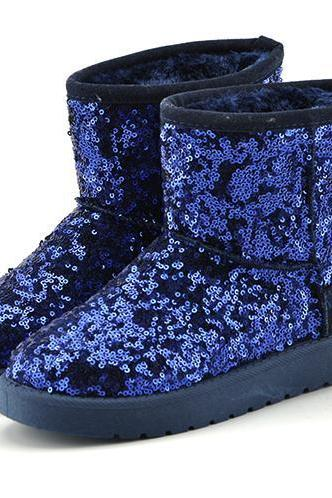 Sequin Embellished Ugg Boots, Winter Boots
