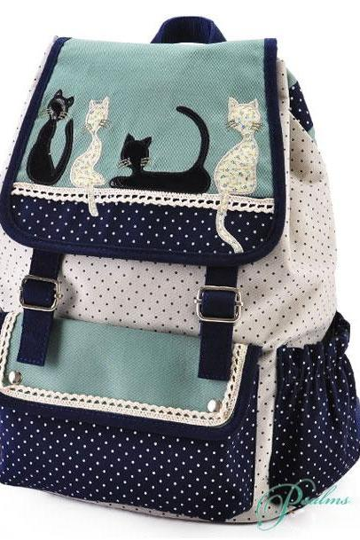 Ulass Cat Leisure School Backpack BB-38