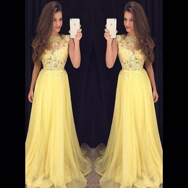 Ulass 2016 Tulle Yellow Prom Dresses Long Cheap vestido longo branco Lace Bodice Dress Homecoming