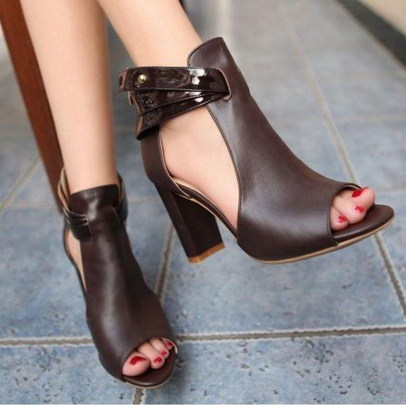 Ulass high heel Genuine Leather sandals women sexy fashion lady female shoes hot sale ST-054
